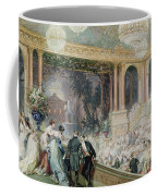Dinner At The Tuileries Coffee Mug by Henri Baron