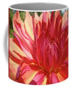 Dinner Plate Dahlia Flower Art Print Orange Baslee Troutman Coffee Mug