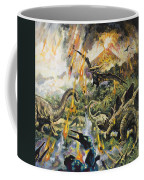 Dinosaurs And Volcanoes Coffee Mug