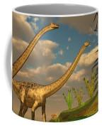 Diplodocus Dinosaur Romance Coffee Mug
