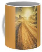 Dirt Road Sunrise Coffee Mug
