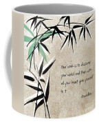 Discover Your World Coffee Mug by Linda Woods