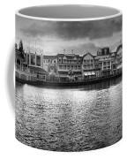 Disney World Boardwalk Gazebo Panorama Bw Coffee Mug