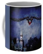 Disneyland Castle At Christmas Time Coffee Mug