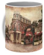 Disneyland Corner Cafe Pa Textured Coffee Mug