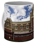 Disneyland Train Depot Signage Coffee Mug