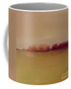 Distant Red Trees Coffee Mug