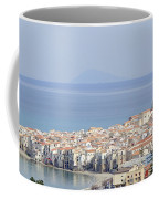 Distant View Of Cefalu Sicily Coffee Mug