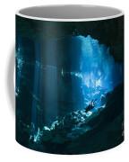 Diver Enters The Cavern System N Coffee Mug