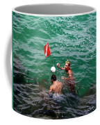 Divers At Sebastian Inlet On The Atlantic Coast Of  Florida Coffee Mug