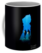 Divers Silhouetted Through Reef Coffee Mug