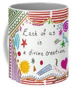 Divine Creation Doodle Quote Coffee Mug