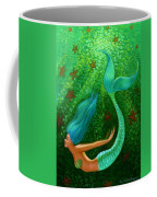 Diving Mermaid Fantasy Art Coffee Mug