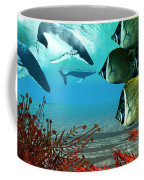 Diving Whales Coffee Mug by Corey Ford