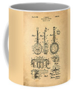 Dixie Banjolele Patent 1954 In Sepia Coffee Mug