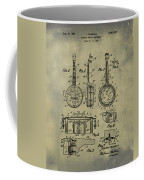 Dixie Banjolele Patent 1954 In Weathered Coffee Mug