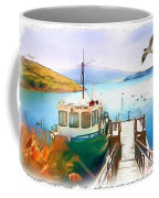 Do-00095 Boat Near Rotorua Coffee Mug