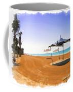 Do-00155 Beach At Royal Mirage Hotel Coffee Mug