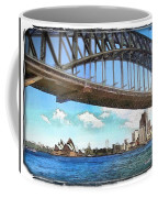 Do-00284 Sydney Harbour Bridge And Opera House Coffee Mug