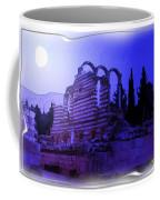 Do-00307 Moon On Anjar Ruins Coffee Mug