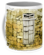 Do-00322 An Old Door And Wall Coffee Mug