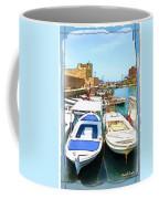 Do-00347 Boats In Byblos Port Coffee Mug