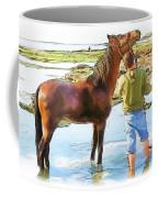 Do-00421 Washing Horse In Mina Coffee Mug