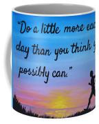 Do A Little More 18x24 Inspirational Art Coffee Mug