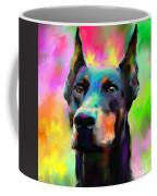 Doberman Pincher Dog Portrait Coffee Mug by Svetlana Novikova