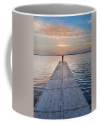 Dock On Arcata Bay At Twilight Coffee Mug