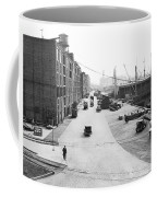 Dock Scene In New York City Coffee Mug