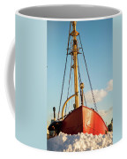 Docked At The Snowfront Coffee Mug