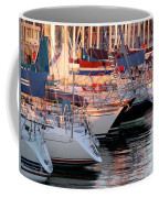 Docked Yatchs Coffee Mug by Carlos Caetano