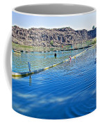 Docks Form Perimeter Of Dierkes Lake In Snake River  Near Twin Falls-idaho  Coffee Mug