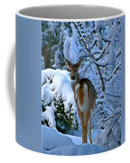 Doe In The Snow In Spokane 2 Coffee Mug