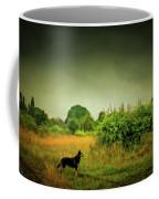 Dog In Chesire England Landscape Coffee Mug