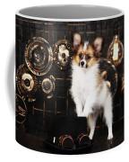 Dog On A Dark Background In The Style Of Steampunk Coffee Mug