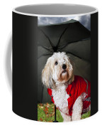 Dog Under Umbrella Coffee Mug