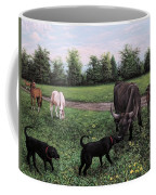 Dogs Meeting Bull Coffee Mug