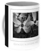 Dogwood Blossoms Bw Poster Coffee Mug
