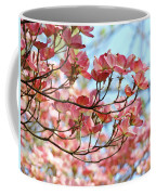 Dogwood Tree Landscape Pink Dogwood Flowers Art Coffee Mug