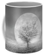 Dogwoods In The Moon Black And White Coffee Mug
