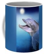Dolphin In The Moonlight Coffee Mug