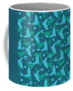 Dolphins In Blue  Coffee Mug