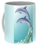 Dolphins Jumping Out Of The Water Coffee Mug
