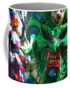 Dominican Republic Carnival Parade Green Devil Mask Coffee Mug