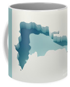 Dominican Republic Simple Intrusion Map 3d Render Coffee Mug