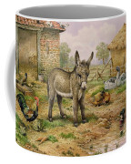 Donkey And Farmyard Fowl  Coffee Mug