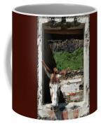 Donkey At The Window Coffee Mug