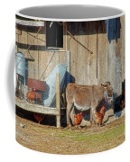 Donkey Goat And Chickens Coffee Mug